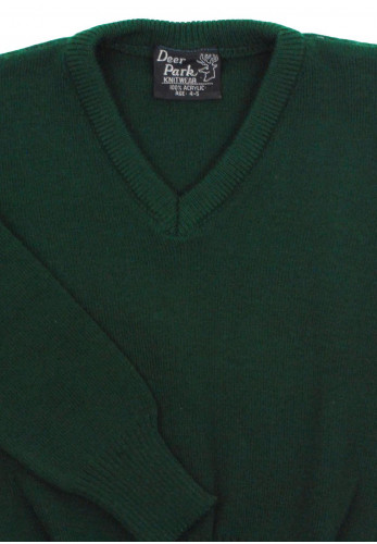 Deer Park School Jumper, Green