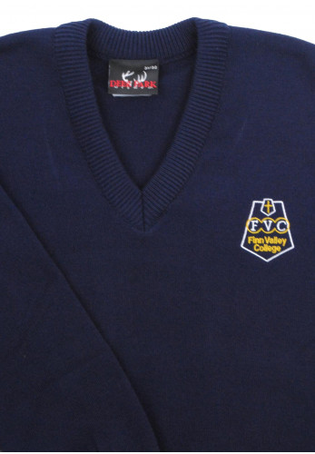 Deer Park Finn Valley College School Jumper, Navy
