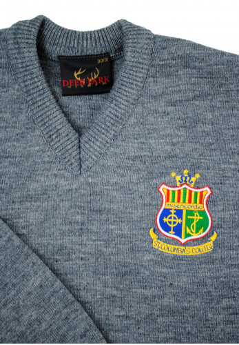 Deer Park St. Columba's College Stranorlar Crested Jumper, Grey