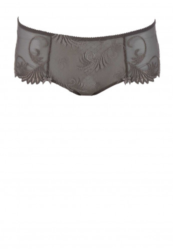 Empreinte Thalia Embroidered Lace Shorty Briefs, Velvet Taupe