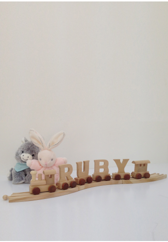 Wooden Train Letter R