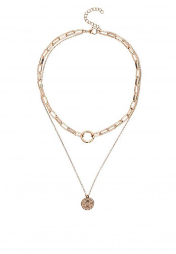 Knight & Day Madelyn Cable Chain Necklace, Rose Gold