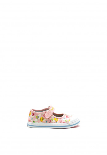 Pablosky Girls Clouds and Hot Air Balloon Canvas Shoe, Pink
