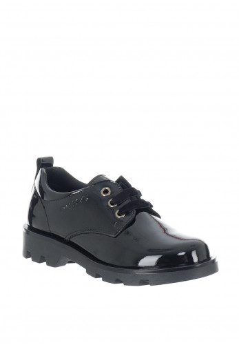 Pablosky Girls Patent School Shoes, Black