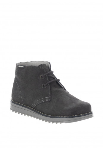 Pablosky Boys Suede Lace Up Boots, Grey