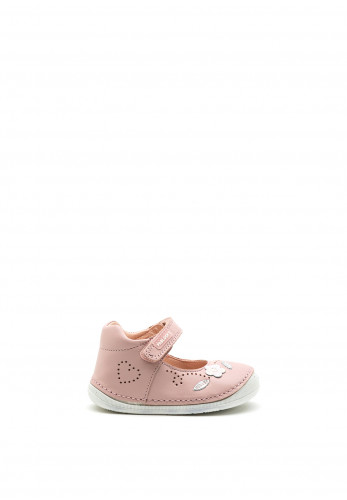 Pablosky Baby Girls Leather Velcro Strap Shoes, Pink