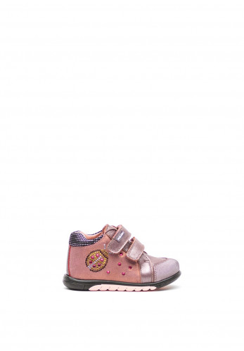 Pablosky Baby Girls Jewel Print Velcro Strap Boots, Rose