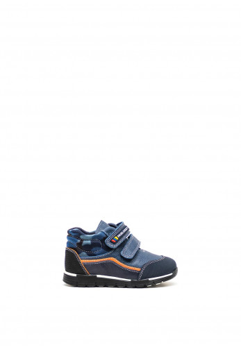 Pablosky Boys Camouflage High Top Boots, Navy