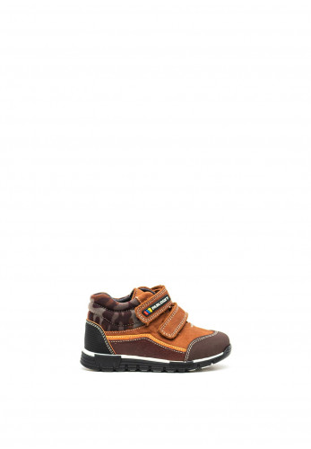 Pablosky Boys Camouflage High Top Boots, Brown
