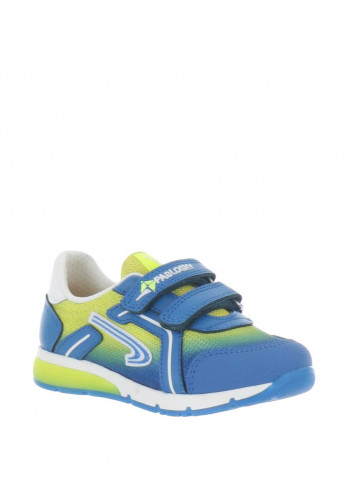 Pablosky Boys Mesh Velcro Strap Trainers, Blue