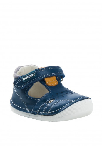 Pablosky Baby Boys Velcro Strap Pre-Walker Shoes, Navy