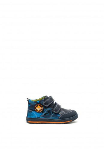 Pablosky Boys Camouflage Double Strap Boots, Navy