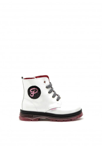 Pablosky Girls Patent Boots, White