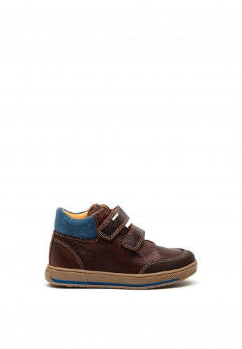 Pablosky Boys Double Strap Boots, Brown