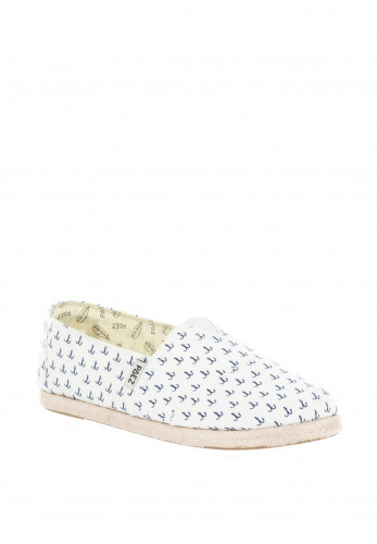 Paez Anchors Canvas Espadrilles, White