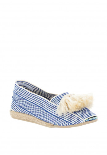 Paez Fringed Tassel Espadrille Sandals, Blue