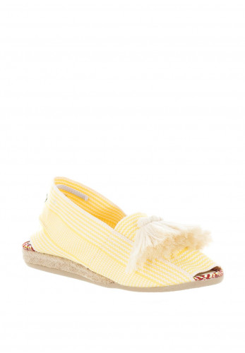 Paez Fringed Tassel Espadrille Sandals, Yellow