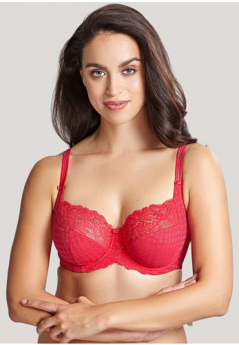 Panache Envy Full Cup Lace Bra, Red