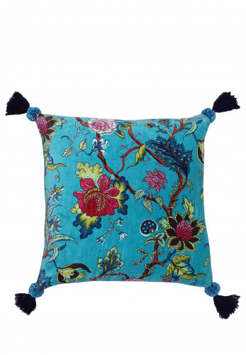 Paoletti Tree of Life Cushion, Turquoise Mix