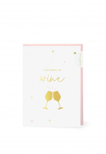 Katie Loxton 'Partners in Wine' Card, 7x5