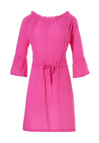 Pastunette Beach Crepe Beach Dress, Fuschia Pink