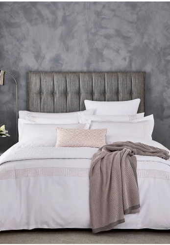 Peacock Blue Hotel Tropea Duvet Cover, Dusky Pink