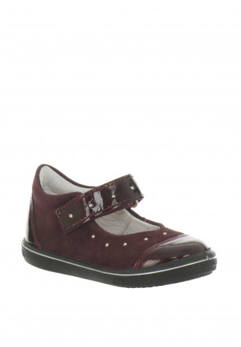 Pepino Baby Girls Suede Studded Mary Jane Shoes, Wine