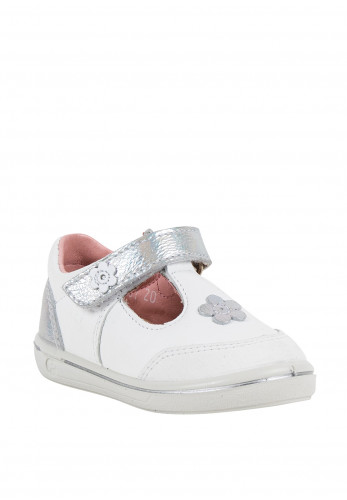 Pepino Baby Girls Mandy Leather Shoes, White