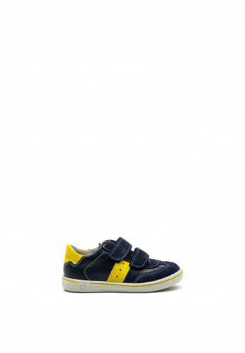 Pepino Baby Boys Henry Velcro Strap Shoes, Navy Yellow