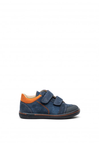Pepino Boys Timmy Suede Velcro Strap Shoes, Navy