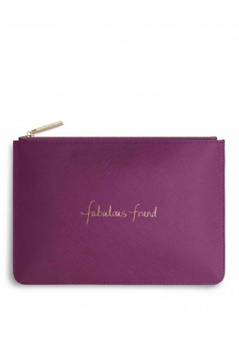 Katie Loxton Fabulous Friend Pouch Bag, Cerise