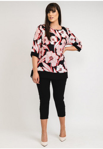 Personal Choice Floral Tunic Top, Pink