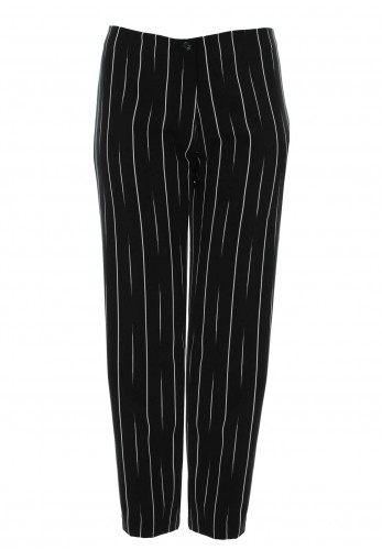 Personal Choice Elasticated Straight Trousers, Black