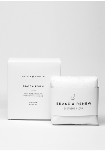 Pestle & Mortar Erase & Renew Double Cleanse Facial Cloths