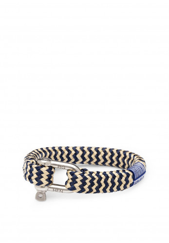 Pig & Hen Bombay Barry Men's Bracelet, Navy Sand