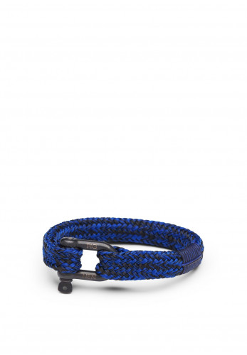 Pig & Hen Gorgeous George Men's Bracelet, Cobalt Black