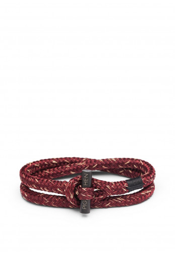 Pig & Hen Tiny Ted Men's Bracelet, Bordeaux Sand