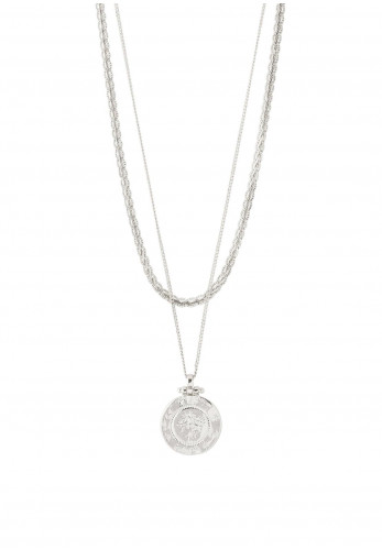 Pilgrim Nomad 2n1 Chain and Coin Chain Set, Silver