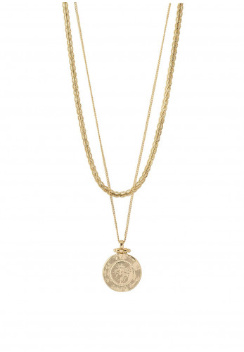 Pilgrim Nomad 2n1 Chain and Coin Chain Set, Gold