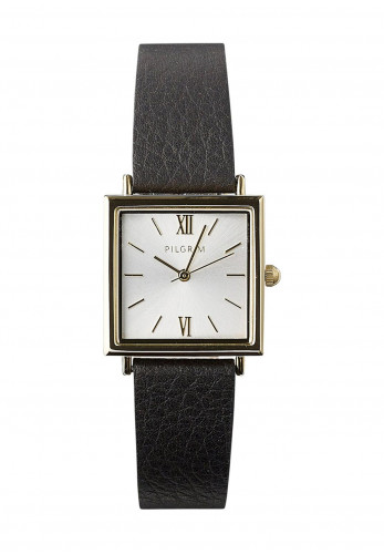 Pilgrim Bell Gold Plated Ladies Watch, Gold & Black