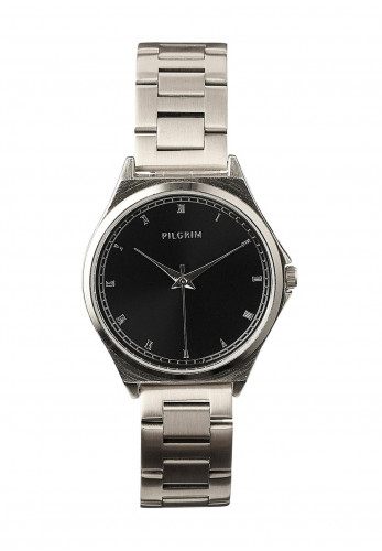 Pilgrim Bellerose Silver-plated Watch, 702036108 Black & Silver