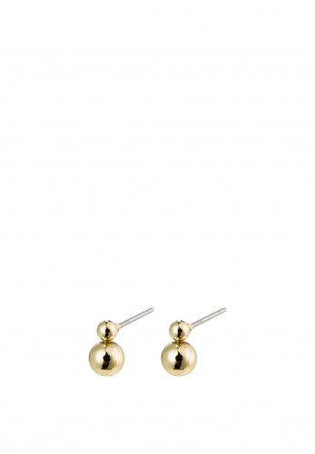 Pilgrim Gala Double Sphere Earrings, Gold