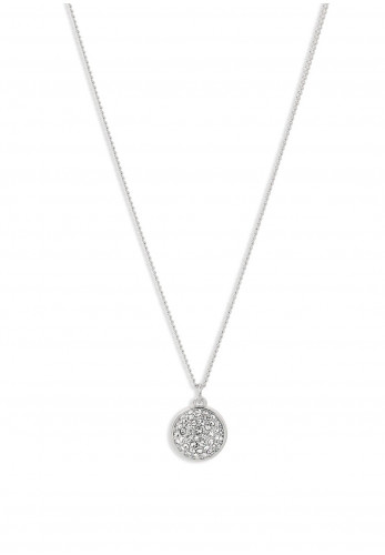 Pilgrim Heather Crystal Pendant Necklace, Silver