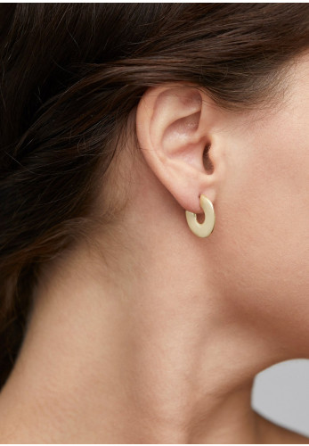 Pilgrim Vivian Flat Hoop Earrings, Gold