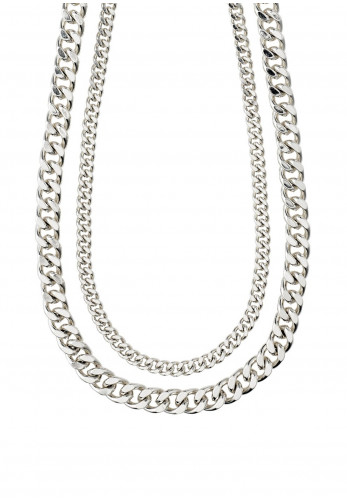Pilgrim Water 2 in 1 Chain Necklace, Silver