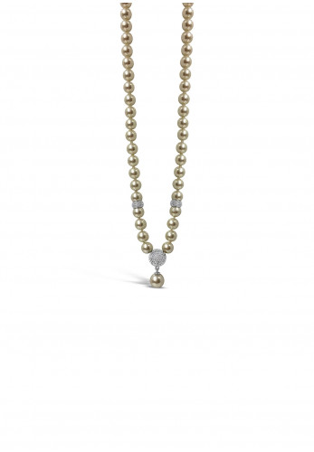 Absolute Pearl Crystal Bead Necklace, Cream