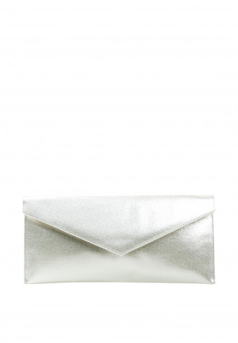 Pomares Shimmer Envelope Clutch Bag, Light Gold
