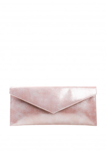 Pomares Shimmer Envelope Clutch Bag, Pink