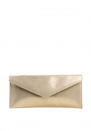 Pomares Shimmer Envelope Clutch Bag, Gold