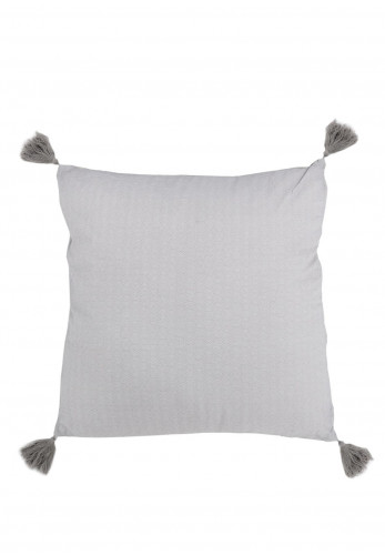 Portfolio Tatton Square Cushion, Silver Grey